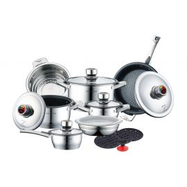 17 Pieces Deluxe Cookware Set