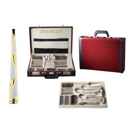 72 Pieces Cutlery Set in Luxurious Leather Suitcase